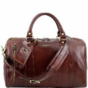 Sac de Voyage Véritable Cuir Avion Marron  -Tuscany Leather-