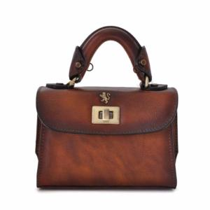 b075085f4d Petit Sac à Main Cuir Vintage Femme Lucignano -Pratesi-
