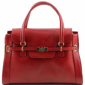 Nouvelle Collection Sac à Main Cuir Chic Femme Rouge - Tuscany Leather -