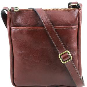 Sac Bandoulière Cuir Homme à Poches Marron  -Tuscany Leather-