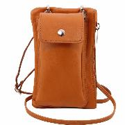 Mini Cross Bag Cognac - Tuscany Leather