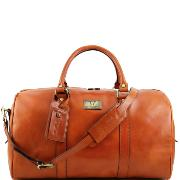 Grand Sac de Voyage Cuir Naturel avec Poches -Tuscany Leather-