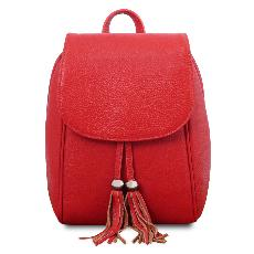 Sac à Dos Cuir Souple Ville Femme Rouge - Tuscany Leather