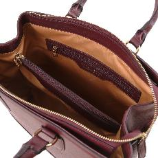 Sac Cuir Femme 2 Compartiments Bordeaux - Tuscany Leather -