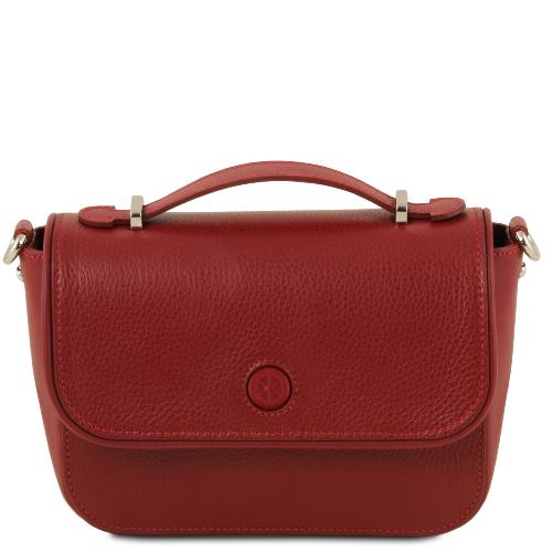 Sac Bandoulière Cuir Femme Rouge - Tuscany Leather -