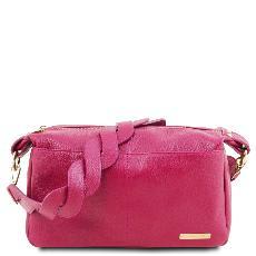 f500cd95fc Sac Bandoulière Cuir Grainé Femme Rose - Tuscany Leather -