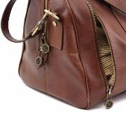 Sac de Voyage Cuir Avion Marron  -Tuscany Leather-