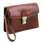 Pochette Homme Cuir Marron - Tuscany Leather -