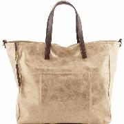 Sac Business Cuir Vieilli Femme Beige -Tuscany Leather -