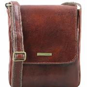 Sac Bandoulière Cuir Homme avec Poches  -Tuscany Leather-