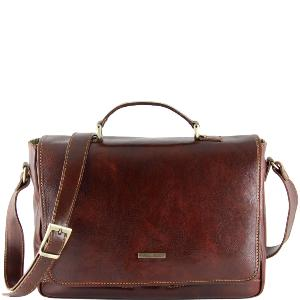 Sacoche Cuir Homme pour Ordinateur Portable-Tuscany Leather-