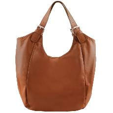 Leather Hobo Bag for Women Cognac - Tuscany Leather –her-