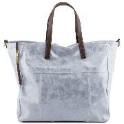 Sac Business Cuir Vieilli Femme Bleu -Tuscany Leather -