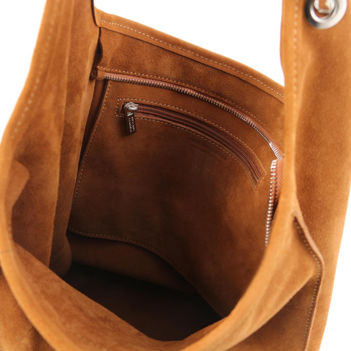 Sac Daim Leather en Epaule Femme pour Tuscany AwnSfAq6