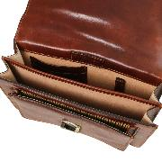Sac Bandoulière Homme Marron Cuir  -Tuscany Leather -