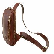 Sacoche Epaule Cuir Homme Marron  - Tuscany Leather -