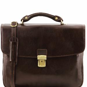 Cartable Cuir Marron Foncé - Tuscany Leather -