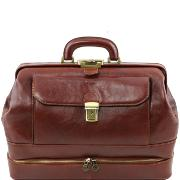 Vraie Malette Médecin Cuir Marron - Tuscany Leather -