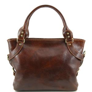 Sac Classique Cuir Marron Femme - Tuscany Leather -