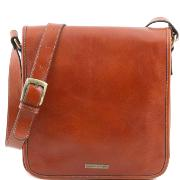 Sac Besace Bandoulière Cuir Homme Miel -Tuscany Leather-