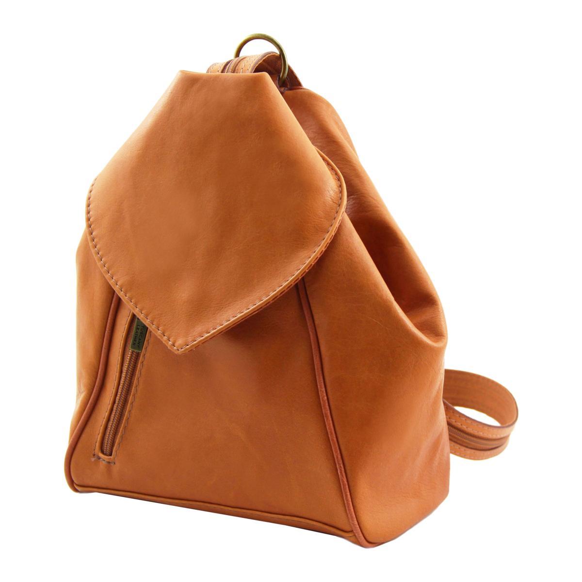 fc074c4450 Sac à Dos Cuir Souple Femme Camel - Tuscany Leather -