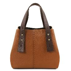 Sac Shopping Epaule Cuir Femme - Tuscany Leather -