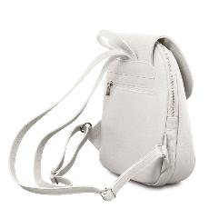 Sac à Dos Cuir Souple Ville Femme Blanc - Tuscany Leather