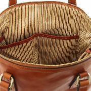 Sac Bandoulière Cuir Femme 2 Compartiments Marron Clair -Tuscany Leather -