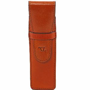 Etui en Cuir pour Stylo Miel -Tuscany Leather-