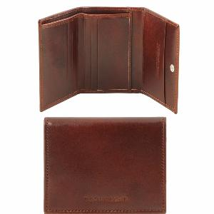 Portefeuille Cuir Homme 3 Volets Marron - Tuscany Leather-