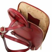 Sac à Dos Cuir Femme 2 Compartiments Rouge - Tuscany Leather-