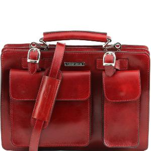 Sac Cartable Cuir Rouge Femme - Tuscany Leather -