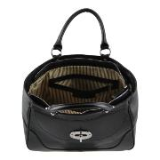 Grand Sac Cuir Femme 2 Compartiments Noir  -Tuscany Leather-