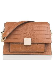 Sac Cuir Croco et Chainette Femme Camel  - First Lady Firenze -