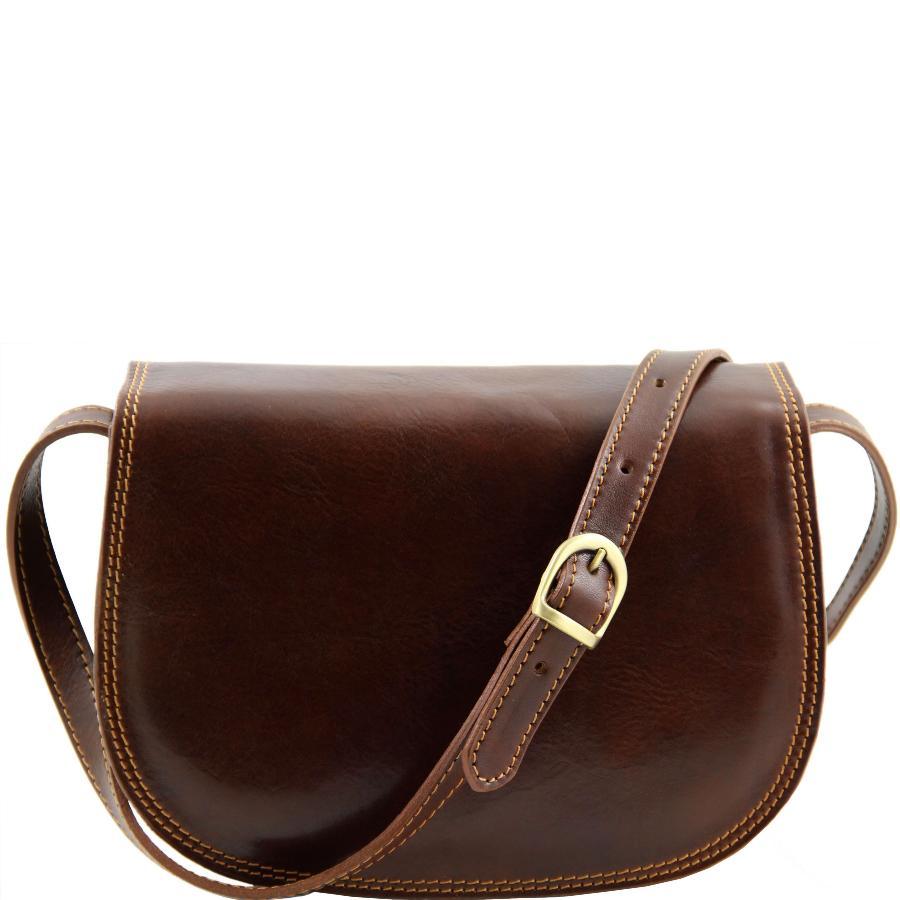 b694a18d72 Sac Bandoulière Cuir Femme Marron -Tuscany Leather-