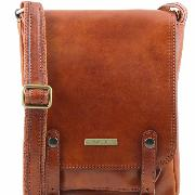 Sac Bandoulière Cuir Naturel Homme -Tuscany Leather-