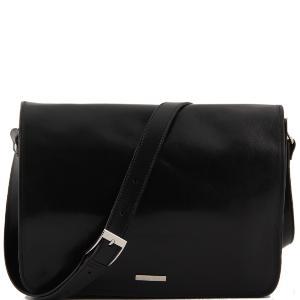 Sac Besace Cuir Homme Noir - Tuscany Leather -