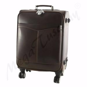 Valise Trolley Cuir Marron
