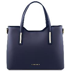 Sac Cuir Femme 2 Compartiments Bleu - Tuscany Leather -