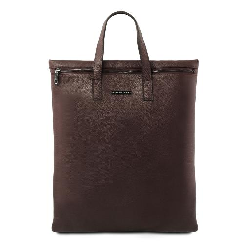 Grand Sac Bandoulière Cuir Femme Marron  - Tuscany Leather -
