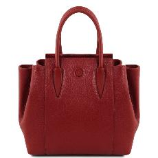 Sac à Main Cuir Souple Femme Rouge - Tuscany Leather -