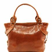 Sac Classique Cuir Femme Miel -Tuscany Leather-