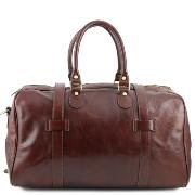 Grand Sac de Voyage Cuir avec Boucles Voyager Marron -Tuscany Leather-