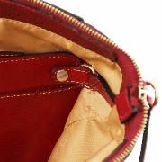 Sac Cuir Souple Rouge Forme Sacoche Femme -Tuscany Leather -