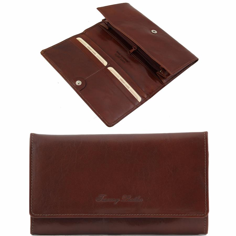 Portefeuille Compagnon Cuir Femme Tuscany Leather