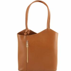 Sac à Dos Transformable Femme Cuir Camel - Tuscany leather -