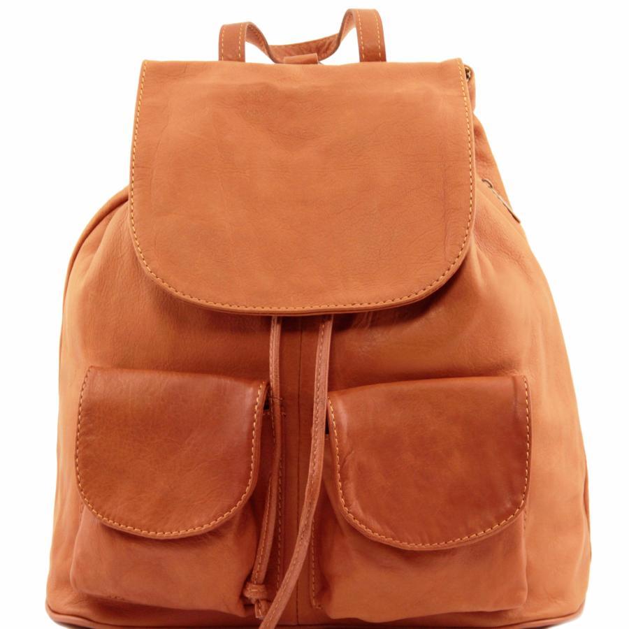 Tuscany Leather - Seoul - Sac À Dos En Cuir Grand Modèle - Rouge Foncé 5e4b0b