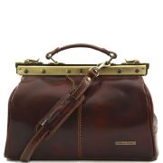 Sac Cuir Retro -Marron- Style Medecin Femme -Tuscany Leather-
