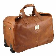 Sac Voyage Cuir Roulettes Marron clair- Tuscany Leather -