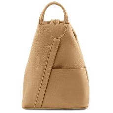 Sac à Dos Cuir Souple Femme Beige - Tuscany Leather -
